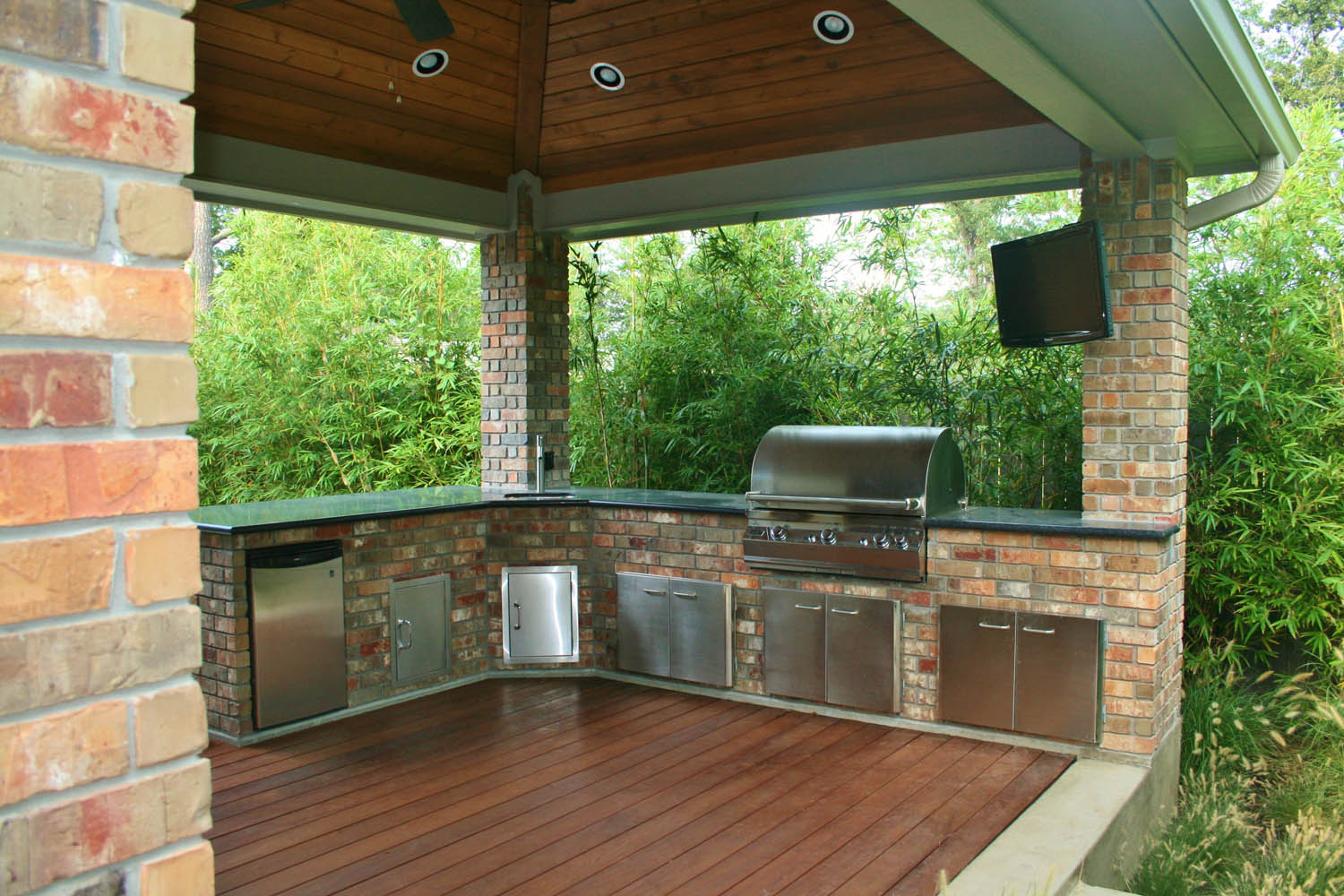 Outdoor Kitchen Patio Houston Outdoor Kitchens Spring Outdoor Fireplace Photos