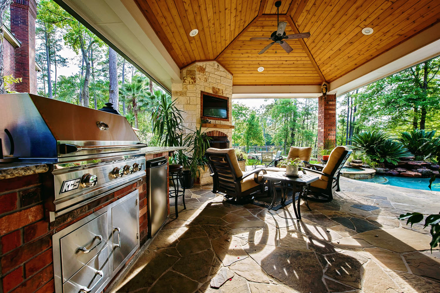 Houston Outdoor Kitchens Spring Photos The Woodlands Arbor