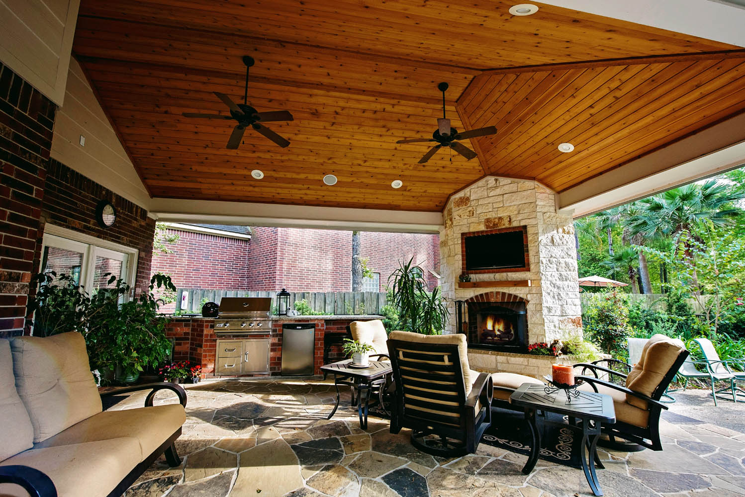 Houston Outdoor Kitchens Spring Outdoor Fireplace Photos .