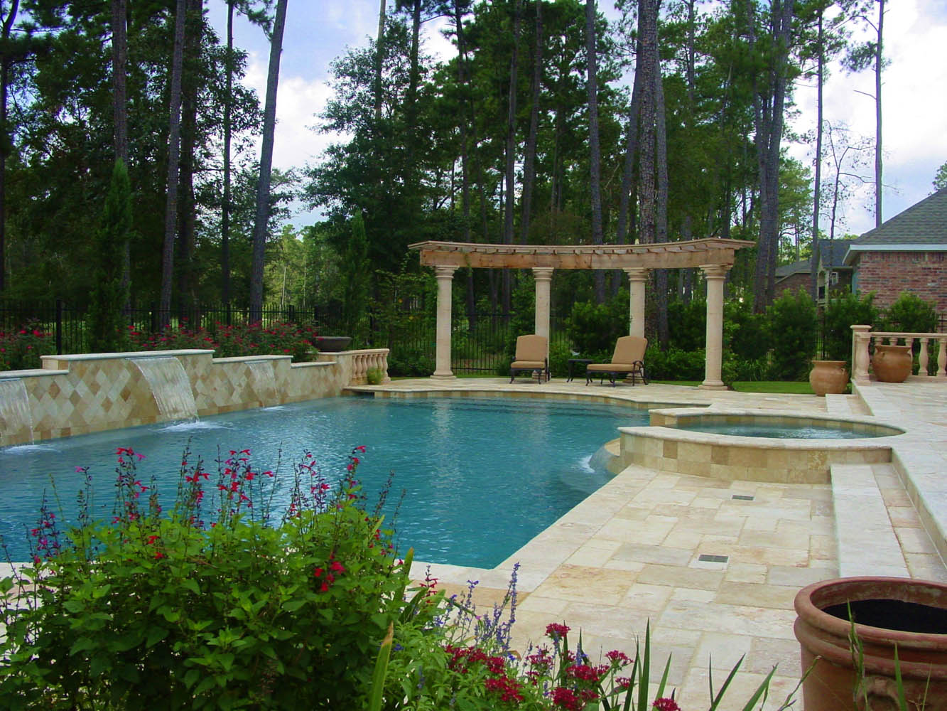 Pool photos houston the woodlands tropical pools for Pool design houston tx
